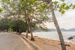 Сторона дороги моря Стоковое Изображение