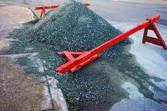 Сторона дороги под конструкцией Стоковая Фотография