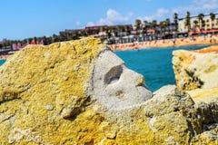 Сторона от утеса, пляж Барселоны Стоковые Изображения