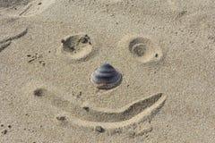 Сторона песка пляжа Стоковая Фотография RF