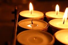 сторона пламени свечки Стоковые Фото