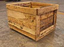 сторона пола коробки деревянная Стоковые Изображения