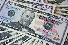 Сторона примечаний доллара лежа Стоковые Фотографии RF