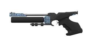 сторона профиля атлетической черной пушки воздуха левая стоковые фото