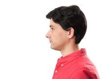 Сторона профиля человека Стоковая Фотография
