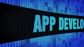 Сторона развития приложения отправляет SMS перечислению доски знака дисплея с плоским экраном стены СИД сток-видео