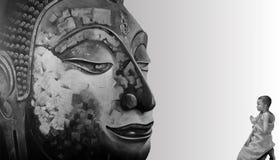 Сторона раздумья картины иллюстрации Будды Стоковые Фотографии RF