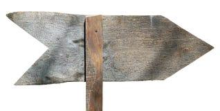 Сторона реального винтажного handmade деревянного знака стрелки задняя Стоковые Изображения RF