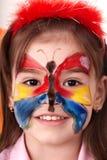 сторона ребенка делая картину Стоковые Фотографии RF