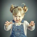 Сторона ребенка сердитая Стоковые Фото
