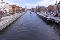 Сторона реки в Bydgoszcz Стоковые Изображения RF