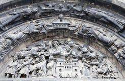 сторона святой paris детали denis портальная Стоковые Фотографии RF