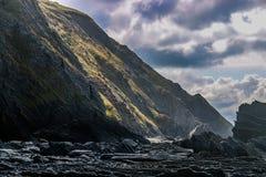 Сторона скалы Welsh Стоковые Изображения RF