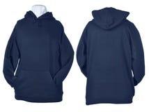 Сторона 2 сморщенных рубашек голубой черноты Стоковое Изображение