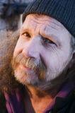 Сторона старого бородатого человека стоковое изображение rf