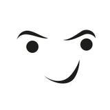 Сторона с улыбкой, логотипом улыбки и персоны иллюстрация вектора