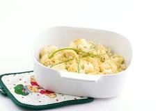сторона тарелки cauliflower Стоковое Изображение
