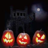 Сторона тыквы хеллоуина фонариков Джека o Стоковые Фотографии RF