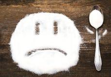 Сторона унылого smiley сделанного с раздробленным сахаром Стоковое Фото