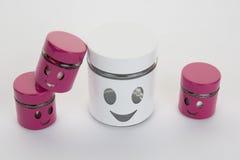 Сторона улыбки проиллюстрированная на коробке Стоковые Фото