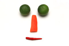 Сторона улыбки с овощем на белой предпосылке Стоковые Фото