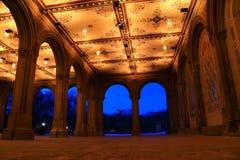 сторона фонтана bethesda аркады Стоковые Изображения RF