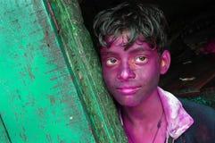 сторона цвета мальчика смазала стоковое изображение