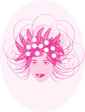 сторона цветет женщина портрета Стоковые Фотографии RF
