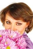сторона цветет женщина стоковое изображение rf