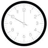 Сторона часов Шкала часа с номерами и часом и минутной стрелкой Минуты и часы метки черточек Тонкий дизайн плана просто иллюстрация вектора