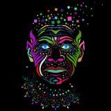 Сторона человека в стиле абстрактного искусства Стоковое фото RF