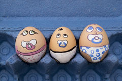 Сторона яичка 3 младенцев Стоковое Фото