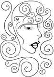 Сторона девушки с волосами Стоковые Изображения RF