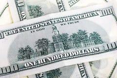 Сторона 400 счетов доллара задняя Стоковые Изображения RF