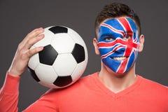 Сторона ART Bodypaint Флаги Стоковые Фотографии RF