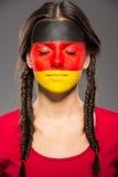 Сторона ART Bodypaint Флаги Стоковая Фотография RF