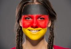 Сторона ART Bodypaint Флаги Стоковое Изображение