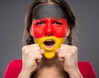 Сторона ART Bodypaint Флаги Стоковые Изображения RF
