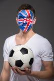Сторона ART Bodypaint Флаги Стоковые Изображения