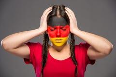 Сторона ART Bodypaint Флаги Стоковые Фото