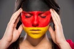 Сторона ART Bodypaint Флаги Стоковое Изображение RF
