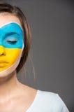 Сторона ART Bodypaint Флаги Стоковая Фотография