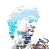 Сторона Santa Maria del Fiore и Дэвида Стоковое Изображение