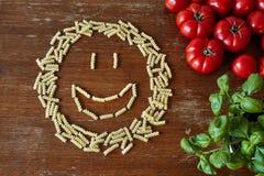 Сторона Smiley сформированная из макаронных изделий Стоковые Изображения RF