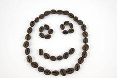 Сторона Smiley сделанная из кофейных зерен стоковая фотография rf