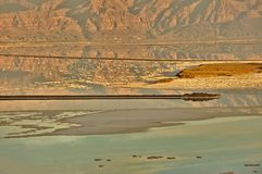 Сторона soufth поверхности мертвого моря Стоковое Изображение RF