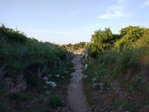 Сторона Weg Турции Антальи Стоковые Фото