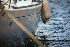 Сторона yatch с обвайзерами Стоковое Фото