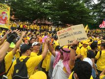 Сторонники Bersih демонстрируют в Малайзии Стоковое Фото