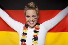 Сторонник Германия болельщика футбола Стоковое Изображение